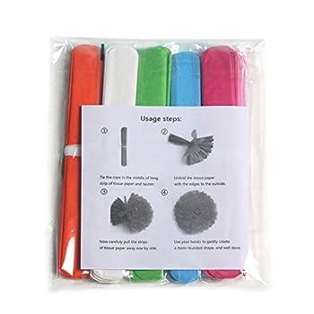 Lembeauty 6pcs Seidenpapier Flower Ball Hängen Pom Mit Eid Mubarak Tags Für Party Einkaufszentrum Aktivitäten Fenster Decor 3
