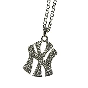 Jewellery of Lords Silver Plated Single Crystal NY NYC New York Hip Hop Rapper Chain Necklace