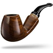 A.P. Donovan - Fumer du tabac à pipe à la main classique (même pour les débutants) à partir de bois de gaïac - pour les filtres 9mm - Hunabku