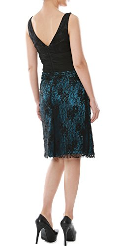 MACloth - Robe - Crayon - Sans Manche - Femme Royal Blue - Black