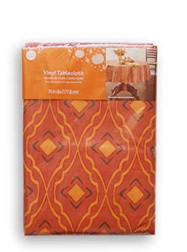 vinyl-tablecloths-flannel-backed-autumn-orange-frette-pattern-70-round-by-mainstay