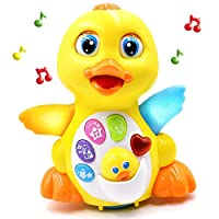 Eulan Light Up Dancing and Singing Musical Duck Toy - Infant, Baby and Toddler Musical and Educational Toy for Girls and Boys Kids or Toddlers