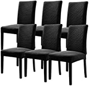 6pcs/Set Stretch Removable Washable Short Dining Color Chair Protector cover Seat Slipcover for Hotel,Dining R