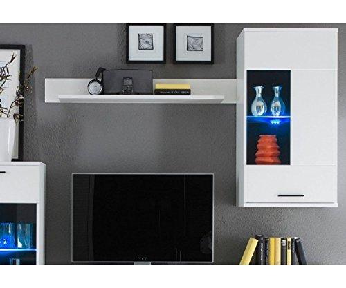 AVANTI TRENDSTORE – Wohnwand mit LED Beleuchtung in weiß Dekor, ca. BHT 230x180x40 cm - 3