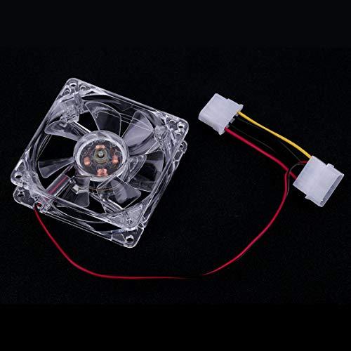 Bellaluee Ventilateurs DE 80 mm faciles à Installer 4 LED Bleues pour Ordinateur PC Boîtier Refroidissement PC CPU Refroidisseur Ventilateur Type Silencieux Transparent