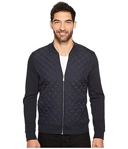 Perry Ellis mens Quilted Nylon Full Zip Jacket Quilted Nylon Full Zip Jacket Cotton Lightweight Jacket  - Blue -