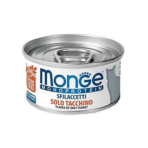 Monge Cat Sfilaccetti Monoprotein Pollo e piselli Lattina 80 gr 1 pezzo