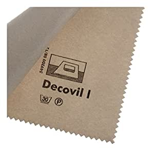 Vilene Decovil I interfacing-with a leather-like handle beige-coloured; width 35.10 inch/90cm, price per meter by Freudenberg/Vlieseline