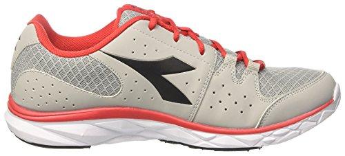 Diadora Hawk 7, Chaussures de Course Homme Gris (Grigio/nero Carbone/rosso)