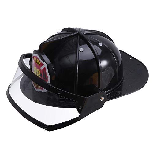 tzhelm Einstellbare Feuerwehrmann Hut Hut Spielzeug Pädagogisches Spielzeug Kostüm Party Hüte für Kinder Kinder (Schwarz) ()