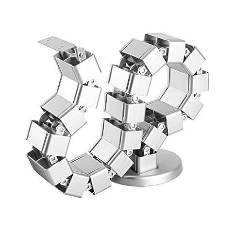 StarTech.com Goulotte passe-câbles - Vertèbres - Gestionnaire de câbles - Vertical - Base lestée - Organisateur de câbles