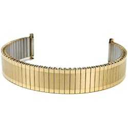 Eulit Flex Ribbon Tie Back Replacement Stainless Steel Band IP yellow Gold 14 mm - 16 mm 76 425141
