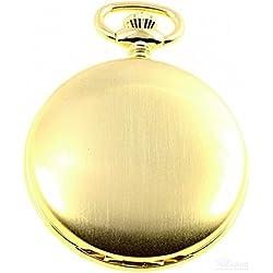 Savonnette Taschenuhr vergoldet Quarz ITRR-31gg