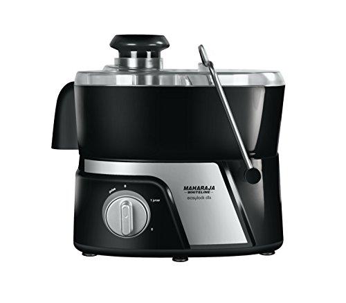 Maharaja White Line JMG Easy Lock Deluxe 550-Watt Juicer Mixer Grinder (Premium Black and Silver)