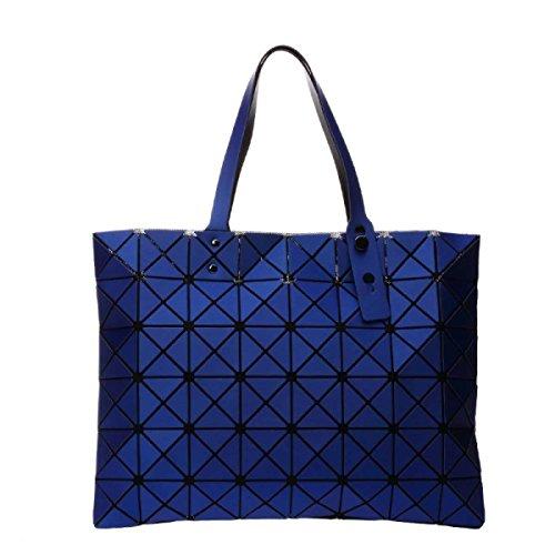 Frauen Paket Geometrische Umhängetasche Handtasche Navyblue