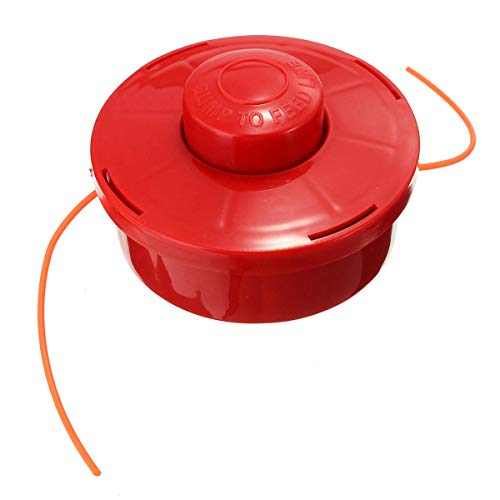 GIlH Nylon Line Head General Mower Head With 2.4mm Cut Red Rope for Lawnmower