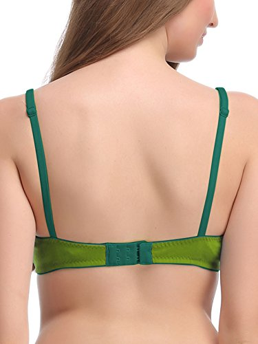 ede75b945 19% OFF on Clovia Women s Cotton Non-Padded Wirefree Bra with Demi Cups -  Green on Amazon
