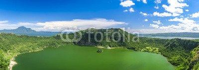 "Alu-Dibond-Bild 90 x 30 cm: ""lake taal volcano tagaytay philippines"", Bild auf Alu-Dibond"