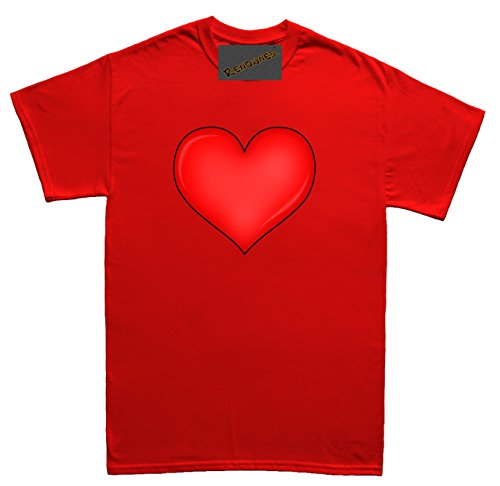 Renowned Big Love Heart 3D print effect Unisex - Kinder T Shirt Rot