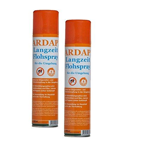 Ardap Langzeit Flohspray für die Umgebung 2 x 400ml (In Voller Größe Matratze Nur)