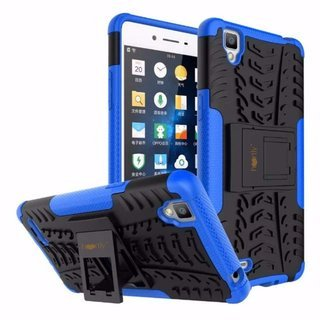 Kickstand Diffender Cover For Vivo Y51L Back Cover in Blue Colour