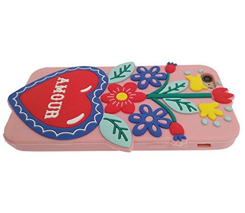 iPhone 7 Plus Hülle, BENKER Hochwertig Schlagfeste und Kratzfeste (Mexikanischer Stil) Weich Silikon Kreativ 3D Cartoon Telefon Fall - Kaktus 2 Kaktus 4