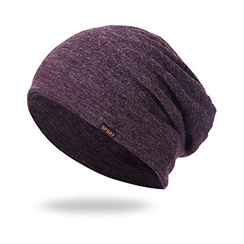 Saingace Warmer Weicher Unisex Beanie Mütze Strickmütze Wintermütze Acrylic Mütze für Damen Herren