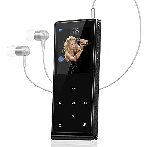 Bluetooth MP3 Player HIFI Backture Touch Button 8GB Metall Verlustfreie Tragbare Musik Player mit Speaker FM Radio Voice Recorder E-bücher Funktion Audio Player Unterstützt Micro SD Karte bis 128GB …