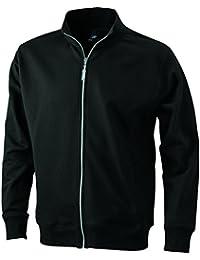 JAMES & NICHOLSON - sweat-shirt ouverture zippée - non déformable - JN046 - homme