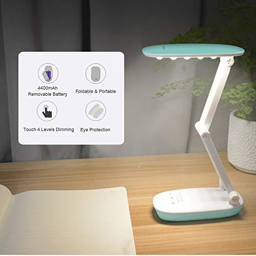 Wiederaufladbare Led-Klapp-Schreibtischlampe - Dimmbare Tragbare Tischleuchte Für Zuhause, Lesen, Lernen, Reisegeschenk Für Kinder Und Familienweihnachtskindergeschenk