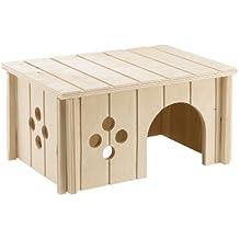 Ferplast 84645099 Conejos Casa Sin 4645, de madera, medidas: 26 x 17,