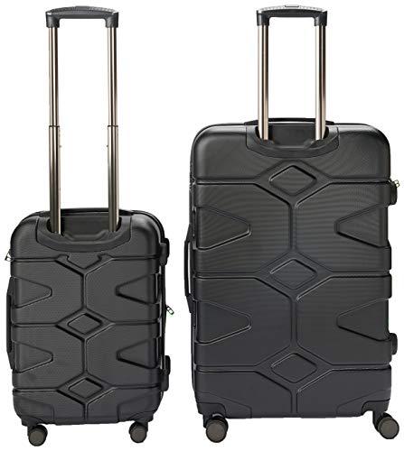HAUPTSTADTKOFFER - X-Kölln - 2er Koffer-Set Trolley-Set Rollkoffer Reisekoffer, TSA, (S & L), Schwarz matt