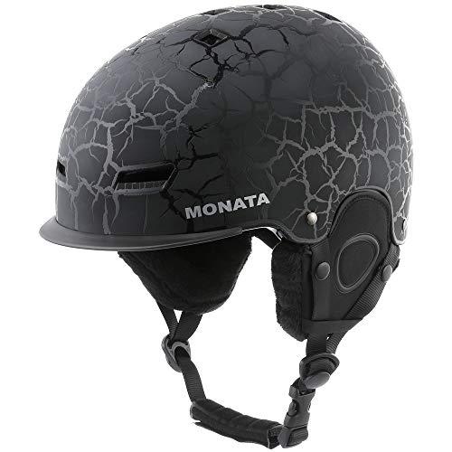 Ski-Snowboard Helm für Herren und Damen MONATA (Schwarz)
