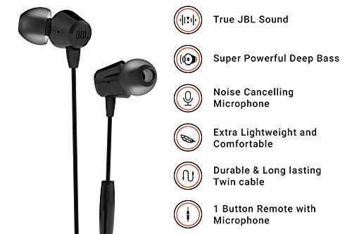 JBL C50HI Wired Earphones (Black)