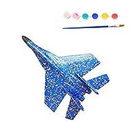 ALIKEEY Toys DIY Coating Foam EPP Hand Launch Throwing Aircraft Airplane Glider DIY Plane Toy (Blue)