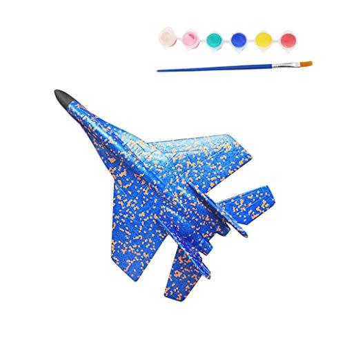 Hffan Styroporflieger Flugzeug, Handstart Trägheit Schaum Segelflugzeug Werfen Fliegen Modell, für Partys, Kinder, Dekoration, Geschenke, Draußen und andere Ereignisse