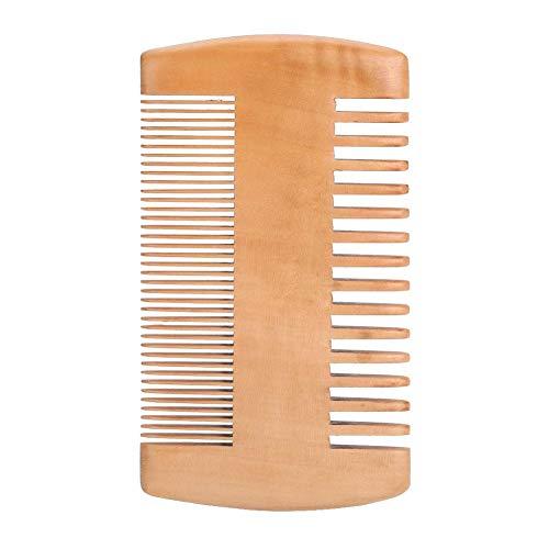 Anti-Statik-Taschenkamm aus Holz mit beidseitigem, natürlichem Duft Antistatischer, nicht verwickelter Dual-Action-Bartkamm Für alle Bartstile