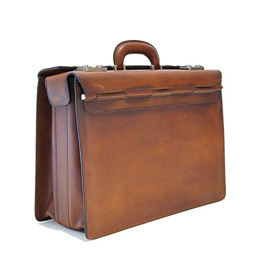 Pratesi-Designer-Italian-Aged-Leather-Lorenzo-Briefcase-brown