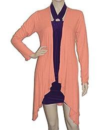 4b4552aa10 Lady Rich Long Sleeved Waterfall Cardigan (UK Size 8 - 22)