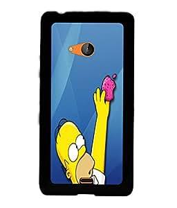 PRINTVISA Funny Cartoon Case Cover for Nokia Lumia 540::Microsoft Lumia 540