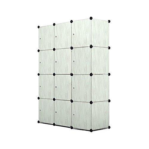 MCTECH DIY Aktenschränke Regalsystem Steckregal Kleiderschrank Faltschrank Garderobe Schuhregal Kunststoffboxen mit Steckregal Stecksystem (12 Boxen,...