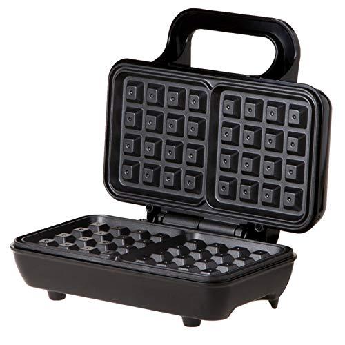 Xcxdx dual waffle maker con piastre rivestite antiaderenti, controllo automatico della temperatura 750w
