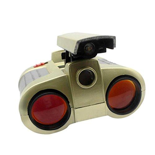 4x30 Fernglas Teleskop Pop-up-Licht Nachtsichtgerät Fernglas Neuheit Spielzeug JYW-1226 4x30 MM kinder spielzeug HD fernglas nachtsichtteleskop mit licht aussehen Fernrohr HKFV (Rot)