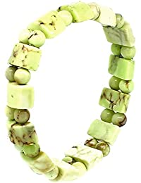 budawi® - Zitronen Chrysopras Armband mit Stretch-Nylonfaden, Zitronenchrysopras Stretcharmband
