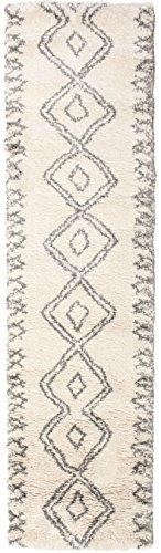 Tappeto berber shaggy massin 80x300 tappeto moderno, passatoia