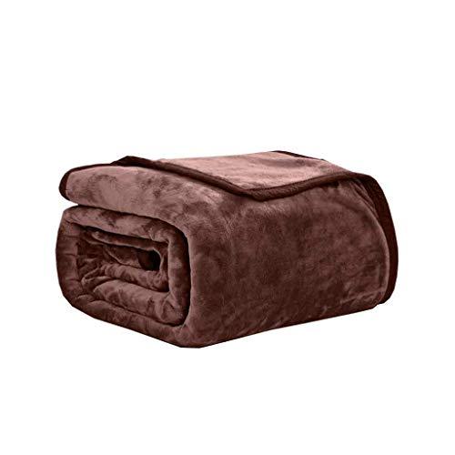Decke, Massiv Coral Fleece Blanket, Lässige Decke, Sofa-Decke, Yoga Decke, Klimaanlage Decke. (Color : Brown, Size : 120cm*200cm)