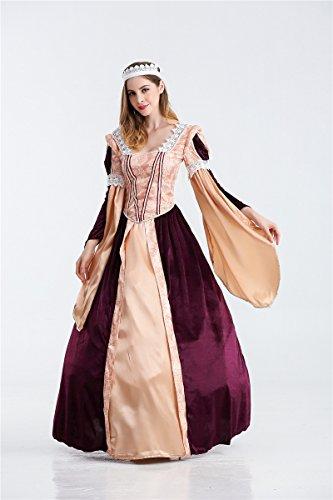 LLY Halloween Cosplay europäischen Palast Königin Kostüm Arabischen Kostüm, l (Arabische Kostüm Name)