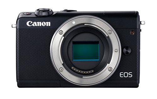 Canon EOS M100 Gehäuse Systemkamera (24,2MP, 7,5 cm (3 Zoll) Display, WLAN, NFC, Bluethooth, Full HD) schwarz