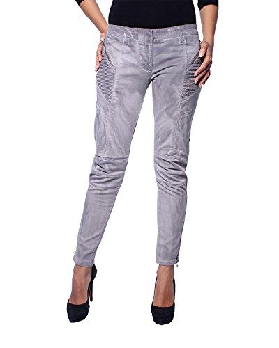 Pierre Balmain - Damen Jeans Skinny Gewaschener Effekt (6M7106/72721/900) - grau, W28 (Herstellergröße: 38)