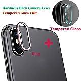 Gusspower Cámara Protector de Lente para iPhone XS/XS MAX, Aleación de Aluminio Anillo de Metal Camera Lente Funda Protectora y Camera Lente Protector de Pantalla (Oro Rosa, iPhone XS MAX)